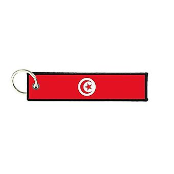 Port Cles Clef Cle Homme Homme Fabric Brode Prints Tunisian Flag