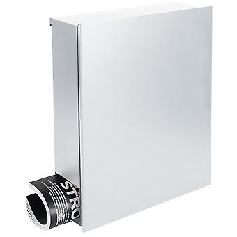 Ontwerpen van mailbox met krant vak signaal wit (RAL 9003) MOCAVI vak 111 muur brief vak 12 liter