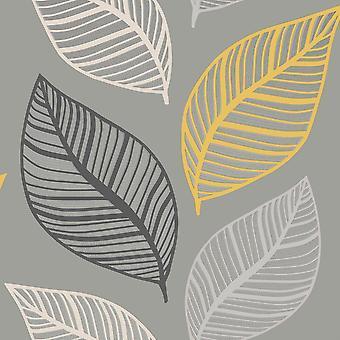 Crown Emporium Elba Leaf Wallpaper