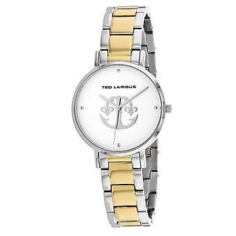 Ted Lapidus Damen's klassische Silber Zifferblatt Uhr - A0742BAPX