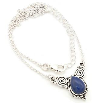 Lapis Lazuli Necklace 925 Silver Sterling Silver Necklace Necklace Blue (MCO 09-06)