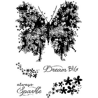 Woodware Clear Singles - Butterfly Sparkle