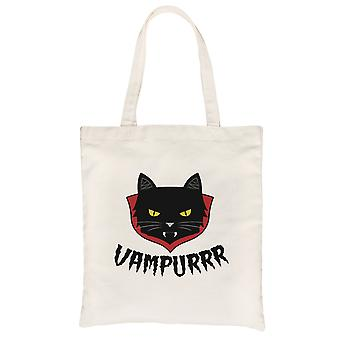Vampurrr Funny Halloween Costume Cute Graphic Design Natural Canvas Shoulder Bag