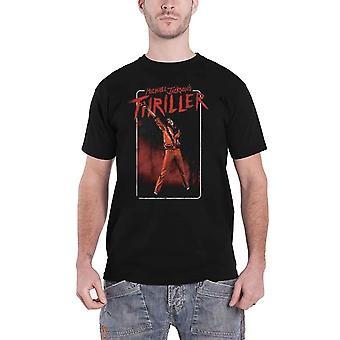 Michael Jackson T Shirt Thriller White Red Suit Logo new Official Mens Black