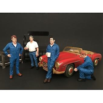 Mechanik 4 Stück Figur Set für 1:18 Maßstab Modelle von American Diorama