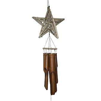 Driftwood Star Bamboo Wind Carillon