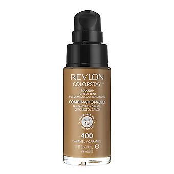 Revlon Colorstay Make-Up voor combinatie / Vette huid 400 Caramel 30ml