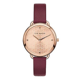 Ted Baker BKPHTF903 Women's Hettie Red Strap Wristwatch