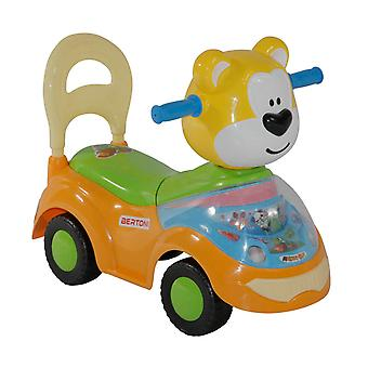 Lorelli slider, children's car bear high backrest, music, storage compartment, from 18 months