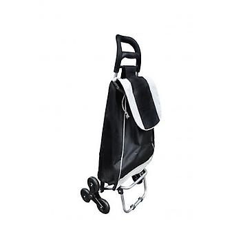 Active Living 30 Litres Shopping Trolley With Stair Climber Wheels Black and