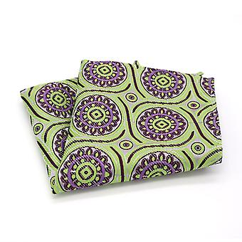 Lime green purple & blue geo pattern pocket square