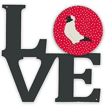 Carolines Aarteita CK5379WALV Nun pigeon rakkaus metalli seinäkuvitus LOVE