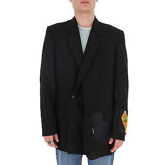 Omef048r20g860131088 Hombres's Blazer de Nylon Negro