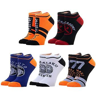 Naruto Five Pack Ankle Socks Set