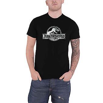 Jurassic World T Shirt Classic Movie Logo nouveau noir officiel pour hommes