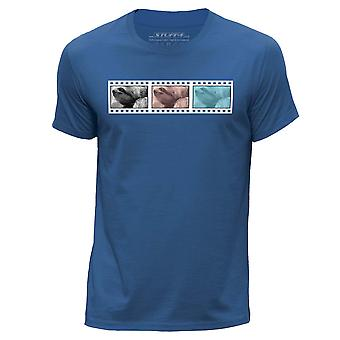 STUFF4 Hommes rond Neck T-shirt-T-Shirt/pellicule / Animal / paresseux/Royal Blue