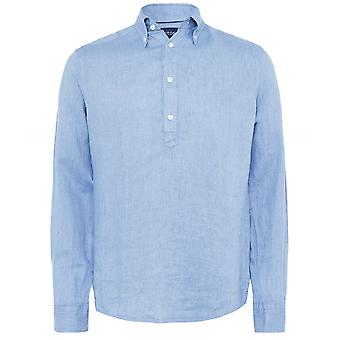 Eton Slim Fit Leinen Popover Shirt