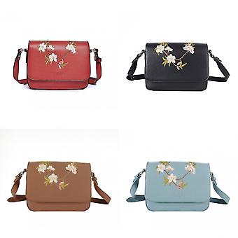 Fable Womens/Ladies Blossom Embroidered Crossbody Bag
