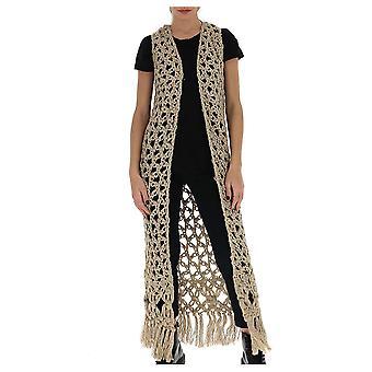 Gentry Portofino D745nig0444 Women's Beige Linen Cardigan