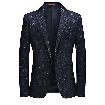 Allthemen Men's Printed Sport Coat Casual 1 Buttoned Suit Jacket