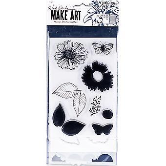 ウェンディ・ヴェッキがアートスタンプを作り、ダイ&ステンシルセット - 国の花