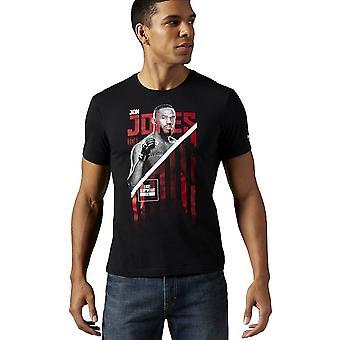 ריבוק Ufc ג'ון עצמות ג'ונס AJ9061 יוניברסל כל השנה גברים חולצת טריקו