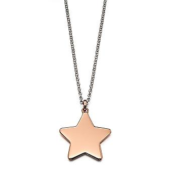 Little Star Tori Silver & Rose Gold Star Dames Ketting