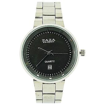 Zaza London Gents Date Grey Dial Silver Tone Metal Strap Dress Watch MMB640/01