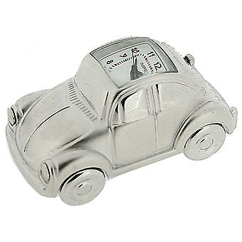 Miniature Chrome Plated Metal VW Beatle Car Novelty Collectors Clock IMP81