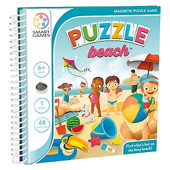 SmartGames Puzzle Beach Magnetic Puzzle Game 48 Défis multi-niveaux Ages 6