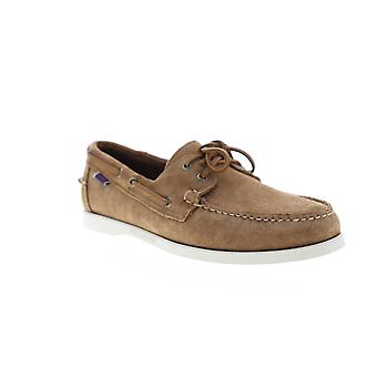 Sebago Portland Suede  Mens Brown Casual Lace Up Boat Shoes