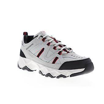 Skechers Crossbar  Mens Gray Extra Wide 4E Mesh Athletic Hiking Shoes