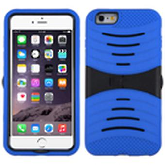 ASMYNA Symbiosis Case with Stand for Apple iPhone 6s/6 Plus - Black/Blue Wave
