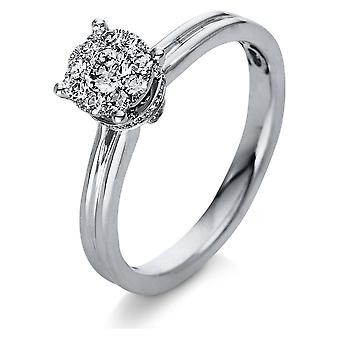 Diamond Ring Ring - 18K 750/- White Gold - 0.36 ct. - 1R016W853 - Ring width: 53