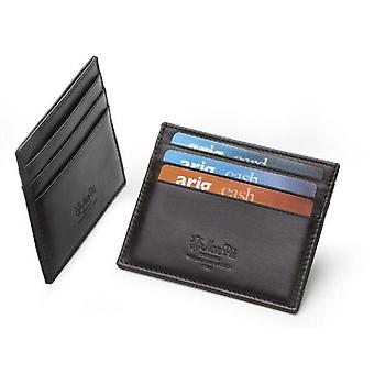 Credit Card Holder Black Italian Leather