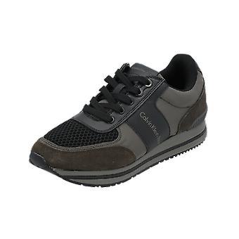 Calvin Klein Jeans ESTEZ Men's Sneakers Green Gym Shoes Sport Running Shoes