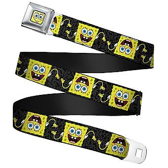 SpongeBob Squarepants Pose Flip Webbing Seatbelt Buckle Belt