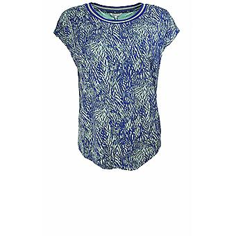Sandwich Clothing Blue & Green Patterned T-Shirt