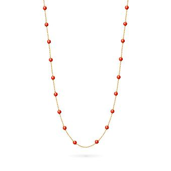 Necklace Long Constellation Coral 18K Gold - Yellow Gold