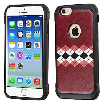 Asmyna Astronoot Phone Case for iPhone 6/6S - Modern Argyle Backing/Black