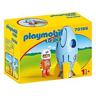 Playset 1.2.3 صاروخ الفضاء بلاي موبيل 70186 (2 جهاز كمبيوتر شخصى)