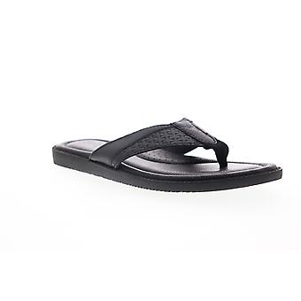 Tommy Bahama Anchors Astern  Mens Black Flip-Flops Sandals Shoes