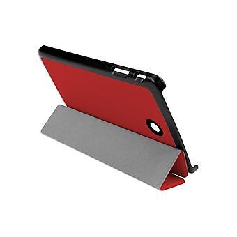Slim Compact PU mágneses bőr tok tok LG G Pad F 8&[Piros]