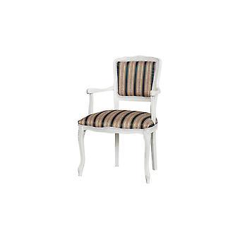 Sedia Diana Colore Bianco, Multicolore in Legno Di Faggio, L55xP50xA85 cm