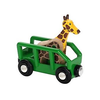 BRIO Safari Wagon and Giraffe 33724 Carriage for Wooden Railway