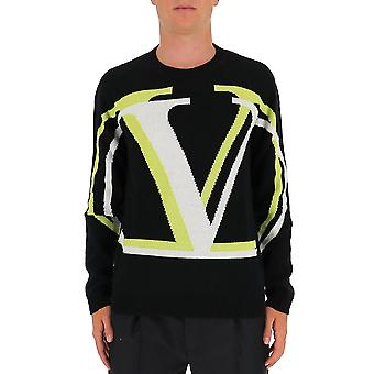 Valentino Uv3kc09q6l4pm6 Mænd's Sort uld sweater