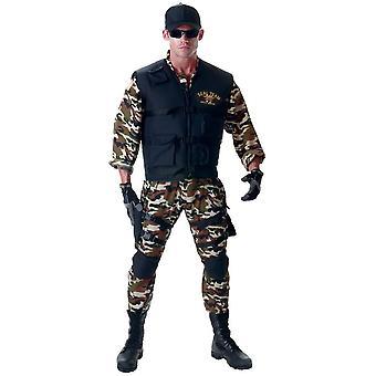 Seal soldat Adult kostym