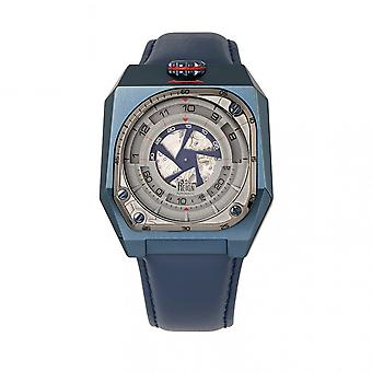 Reign Asher Automatic Sapphire Crystal Leather-Band Watch - Blue