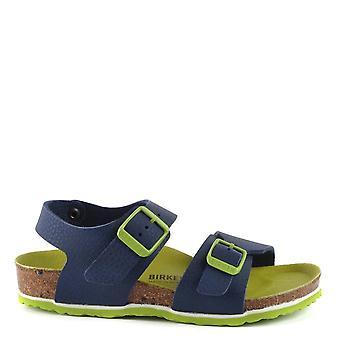 Birkenstock Kid's New York Desert Soil Blue Sandal