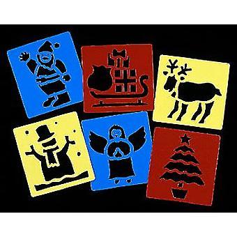 6 Zmywalnych szablonów - Boże Narodzenie